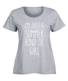 Athletic Heather 'Just Summer Kind of Girl' Scoop Neck Tee - Plus