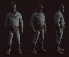 Based on a concept by Belov Pavel Batman Art, Batman Comics, Dc Comics, Comic Book Superheroes, Comic Books, Villain Costumes, Batman The Animated Series, Deathstroke, Character Design Inspiration