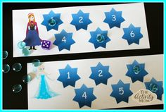 Frozen Themed Dice Game (FREE printable)