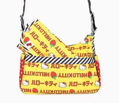 HoboBe Bag: Strawberry Stripes
