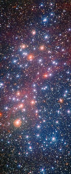 Located some 1300 light-years away in the constellation of Carina (The Keel of the ship Argo) or known as the Wishing Well Cluster, first target to be observed by the NASA/ESA Hubble Telescope. (May 1990)
