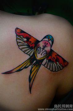 #kite #tattoo on the back