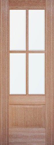 80 Tall 6 Lite Mahogany Prehung Wood Double Door Patio Unit
