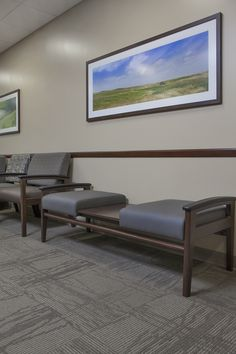 Alegent Lakeside Clinic in Omaha, Ne. Install shot of our framed art, and furniture detail in waiting room. http://www.kurtjohnsonphotograph...