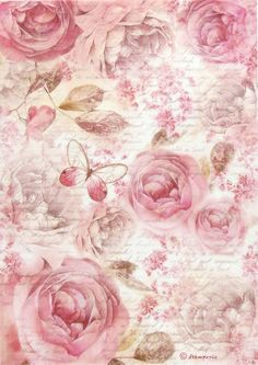 Details about Rice Paper for Decoupage, Scrapbook Sheet, Craft Paper Pink Roses