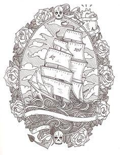 Art A pirates life for me tattoos Tattoos 3d, Love Tattoos, Tattoo Drawings, Bear Tattoos, White Tattoos, Ankle Tattoos, Arrow Tattoos, Temporary Tattoos, Tatoos