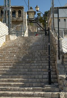 Stairs in  Tzfat Israel. I remember these steps.