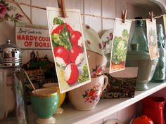 Vintage Seed Packets display