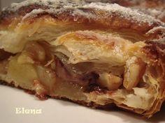 Chocolate y Pimienta: Trenza de manzana,nueces y chocolate