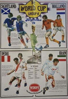 1978 World Cup Finals. Group 4 poster. World Cup Final, Football Team, Finals, Scotland, Baseball Cards, Group, Sports, Poster, Buenos Aires Argentina
