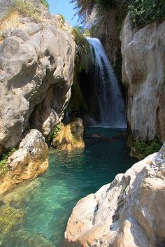 Las Fuentes Del Algar by Rudy  VEGA, via Flickr; Algar Waterfall, Costa Blanca, Spain