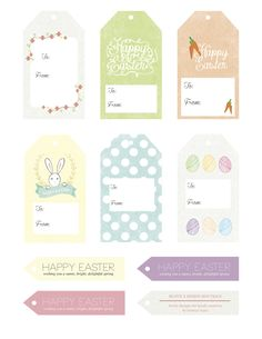 FREE EASTER PRINTABLES! Adorable gift tags.