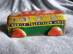 Vintage tin plate Television / TV crew van – OP/31Ei in Toys & Games, Vintage & Classic Toys, Tinplate/ Penny Toys | eBay
