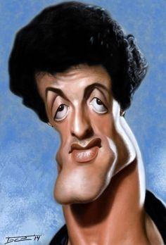 Caricatura de Sylvester Stallone ☆☆