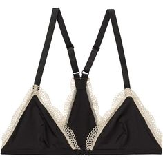 Monki Paris bra (410 RUB) ❤ liked on Polyvore featuring intimates, bras, underwear, lingerie, black magic, monki, lingerie bra and triangle bras