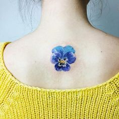 Gorgeous Pansy on Back