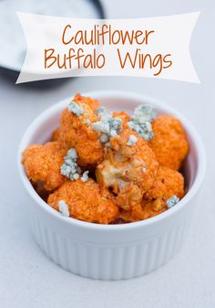 Cauliflower Buffalo Wings #recipe! A great healthy recipe instead of wings for #SuperBowl Sunday! #healthy