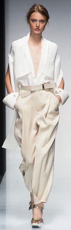 "Gianfranco Ferré Spring - Summer 2014. ""And the LORD said to Moses, ""Go to the people and consecrate them today and tomorrow. Have them wash their clothes."" Exodus 19:10"