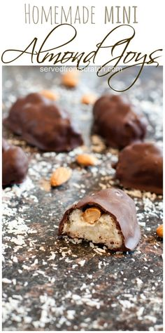 Homemade Mini Almond Joys are incredibly easy to make and taste just like the candy bar!