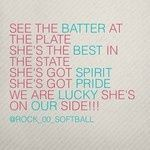 See the batter at the plate She's the best in the state She's got spirit she's got pride Haha she's on our side Softball Memes, Softball Drills, Softball Coach, Softball Players, Girls Softball, Fastpitch Softball, Softball Stuff, Softball Workouts, Softball Bows