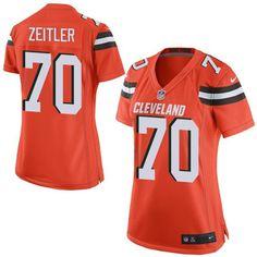 Women s Nike Cleveland Browns  70 Kevin Zeitler Limited Orange Alternate  NFL Jersey Cody Kessler 7f53c5bbb