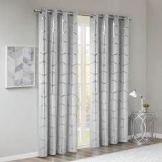 Shop for Intelligent Design Khloe Total Blackout Metallic Print Grommet Top Curtain Panel. Get free delivery On EVERYTHING* Overstock - Your Online Home Decor Outlet Store! Drapery Panels, Window Panels, Drapery Fabric, Blackout Curtains, Drapes Curtains, Curtains Living, Intelligent Design, Metallic Prints, Panel Bed