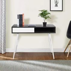 Features: With 1 movable drawer Desk Type: Writing desk Height Adjustable: No Height Adjustment Mechanism: Shape: Rectangular Style: Modern & Conte Wood Steel, Wood And Metal, Wooden Corner Desk, Work Station Desk, Work Stations, Work Desk, Home Office Furniture Desk, Valentino, Pc Desk