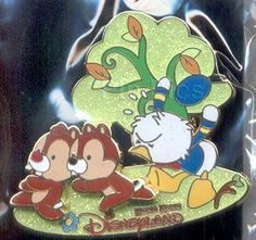 Disney HKDL CUTE CHARACTERS Pin - Donald Duck Chasing Chip & Dale