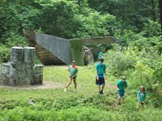 Playing capture the flag on one of our 11 Paintball fields is a huge hit during summer camp!