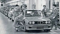 E30 BMW M3 production line