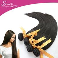 WHOLESALE PRICE Sina Queen Vir-gin Malay-sain Hair Extension 4Bundles Natural Straight Un-processed Hair Double Weft 400g Black