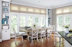 Built-ins flank the