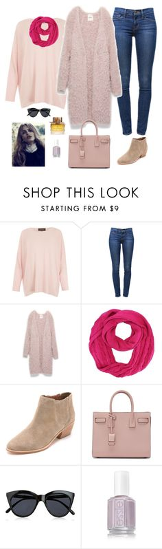 """""""Untitled #860"""" by azra-99 ❤ liked on Polyvore featuring Eskandar, Frame Denim, Joie, Yves Saint Laurent, Le Specs and Burberry"""