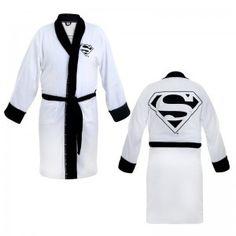 Superman White Terry Cloth Robe