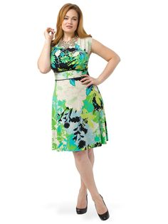 Jessica Howard Plus Size Floral-Print Dress and Jacket ...