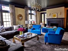 Mix and Chic: Home tour- A bold and beautiful purple-hued Massachusetts home!