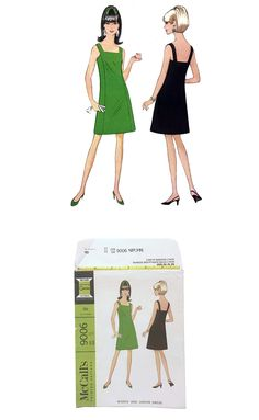 1967 Vintage McCall's 9006 Uncut Sewing Pattern Retro A Line Dress Junior Size 13 Bust 33 Teen Fashion DIY Sleeveless Mod Summer Wear 60's by UpstairsAttic on Etsy