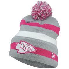 Men's Kansas City Chiefs New Era Black NFL Gray Collection Cuffed Knit Hat