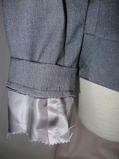 Vogue 1143 Jacket, how I hem sleeves
