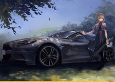 Alice and her new car Car And Girl Wallpaper, Wallpaper Art, Wallpaper Downloads, Anime Military, Anime Weapons, Chevrolet Suburban, Girls Frontline, Car Drawings, Car Girls