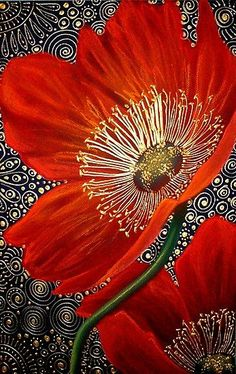 Red Velvet Poppies - Art Quilt - by Cherie Roe DirksenRed Velvet Poppies ~ artist Cherie Dirksen, chalk pastel acrylic liner, x Private collection.Chalk Pastel and Acrylic Liner on Canson Paper / x / Come join me at my site (click pho…In depth Interview Art Floral, Flower Quilts, Landscape Quilts, Chalk Pastels, Silk Painting, Bottle Painting, Fabric Art, Painting Inspiration, Textile Art