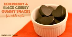 Elderberry & Black Cherry Gummy Fruit Snacks for Colds & Flu #glutenfree #naturalremedy - DontMesswithMama.com
