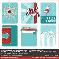 Readymade Journalers: Winter Woods - Digital Scrapbooking Elements