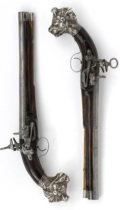 Pair of pistols with Spanish-locks  by Prat  Ripoll  circa 1675