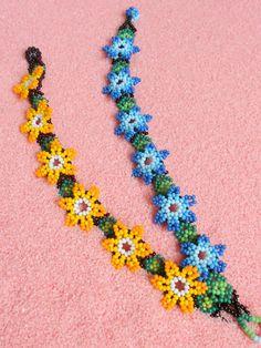 Beaded Braclets, Seed Bead Bracelets, Beaded Earrings, Friendship Bracelets, Seed Beads, Beaded Flowers Patterns, Bead Loom Patterns, Beading Patterns, Beard Jewelry