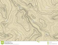 Carte topographique abstraite