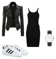 """Classic and simple"" by mimmcgowan on Polyvore featuring adidas, T By Alexander Wang and Daniel Wellington"