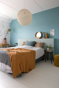 Living Room Green, Living Room Interior, Home Decor Bedroom, Modern Bedroom, Bedroom Wall, Bedroom Ideas, Design Bedroom, Bed Room, Minimalist Bedroom