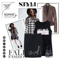 """""""ROMWE 3/III"""" by amina-haskic ❤ liked on Polyvore featuring Balenciaga, Chicnova Fashion, Charlotte Russe, MANGO and romwe"""