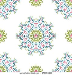 Vintage seamless patterns - stock photo